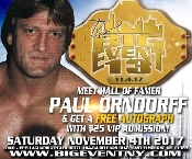 ADMISSION FOR BIG EVENT 13 + FREE AUTOGRAPH PAUL ORNDOFF